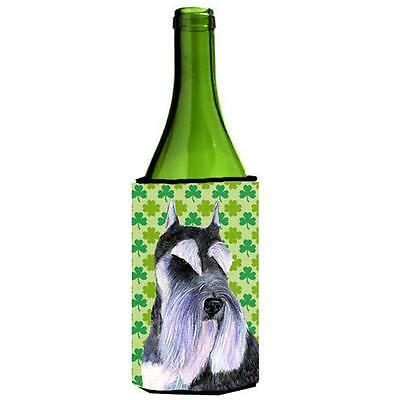 Schnauzer St. Patricks Day Shamrock Wine bottle sleeve Hugger 24 oz.