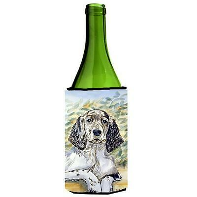 Carolines Treasures English Setter Patience Wine bottle sleeve Hugger 24 oz.