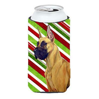 Great Dane Candy Cane Holiday Christmas Tall Boy bottle sleeve Hugger 22 To 2...