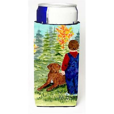 Little Boy With His Chesapeake Bay Retriever Michelob Ultra bottle sleeves Fo...
