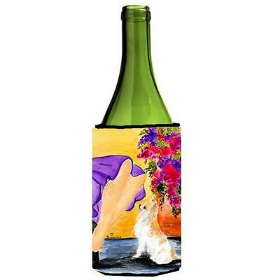 Carolines Treasures Lady With Her Chihuahua Wine bottle sleeve Hugger 24 oz.