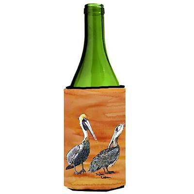 Carolines Treasures Brown Pelican Hot and Spicy Wine bottle sleeve Hugger