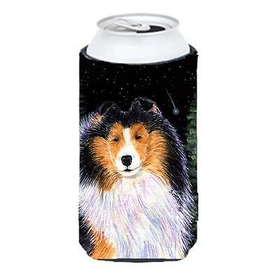 Starry Night Collie Tall Boy bottle sleeve Hugger 22 To 24 oz.