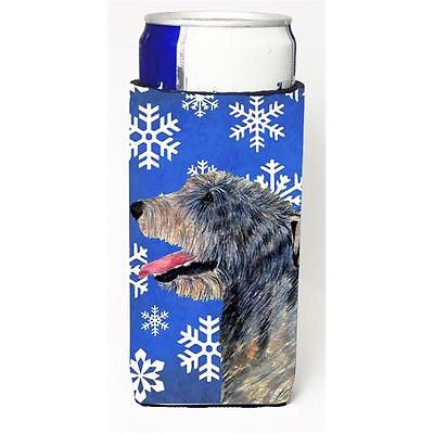 Irish Wolfhound Winter Snowflakes Holiday Michelob Ultra bottle sleeves for s...