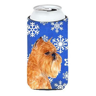 Brussels Griffon Winter Snowflakes Holiday Tall Boy bottle sleeve Hugger 22 t...