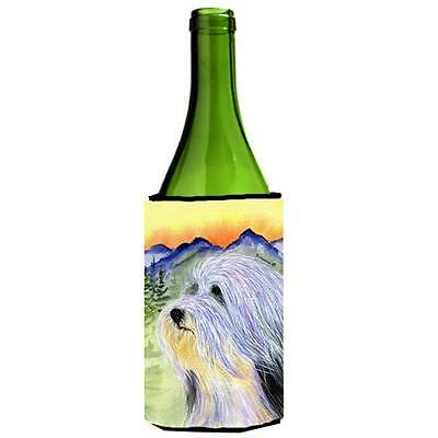 Carolines Treasures SS8244LITERK Bearded Collie Wine bottle sleeve Hugger 24 oz.
