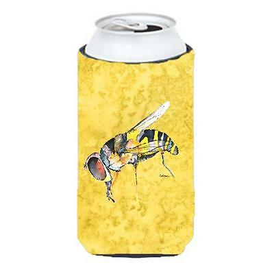 Carolines Treasures Bee On Yellow Tall Boy bottle sleeve Hugger 22 To 24 oz.