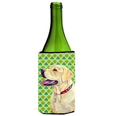 Labrador St. Patricks Day Shamrock Portrait Wine bottle sleeve Hugger 24 oz.