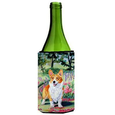 Carolines Treasures Pembroke Corgi Springtime Wine bottle sleeve Hugger 24 oz.