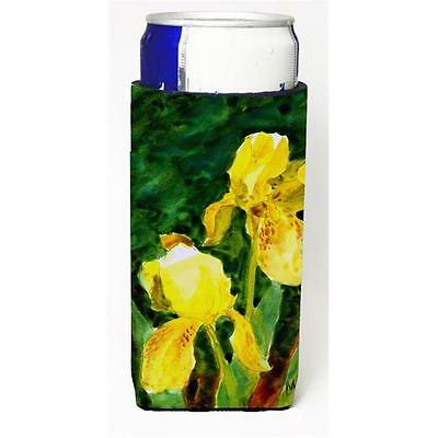Carolines Treasures Flower Iris Michelob Ultra bottle sleeve for Slim Can