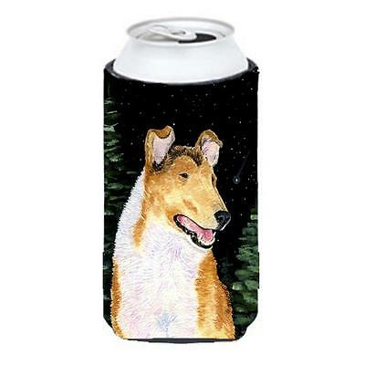 Starry Night Collie Smooth Tall Boy bottle sleeve Hugger 22 To 24 oz.