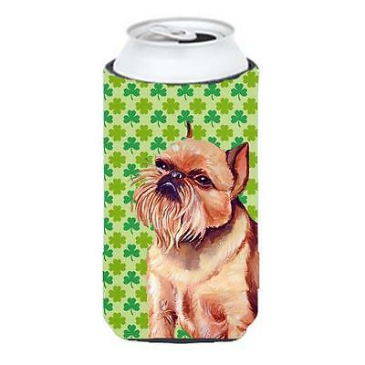 Brussels Griffon St. Patricks Day Shamrock Portrait Tall Boy bottle sleeve Hu...