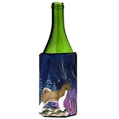 Carolines Treasures Starry Night Akita Wine bottle sleeve Hugger 24 oz.