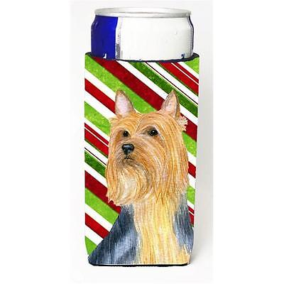 Silky Terrier Candy Cane Holiday Christmas Michelob Ultra bottle sleeves For ...