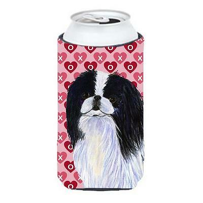 Japanese Chin Hearts Love And Valentines Day Portrait Tall Boy bottle sleeve ...
