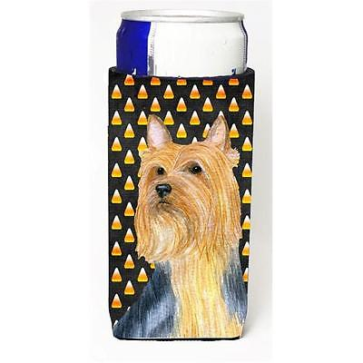 Silky Terrier Candy Corn Halloween Portrait Michelob Ultra bottle sleeves For...