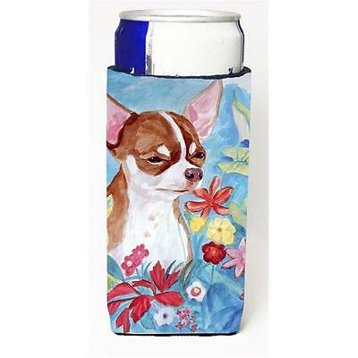 Chihuahua in Flowers Michelob Ultra bottle sleeve for Slim Can