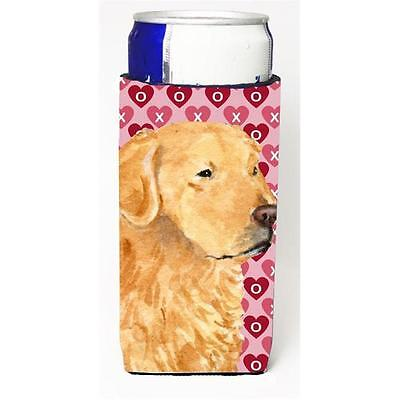 Golden Retriever Hearts Love Valentines Day Michelob Ultra bottle sleeves For...