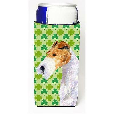 Fox Terrier St. Patricks Day Shamrock Portrait Michelob Ultra bottle sleeves ...