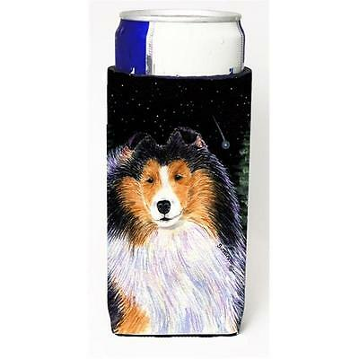 Starry Night Collie Michelob Ultra bottle sleeves For Slim Cans 12 oz.