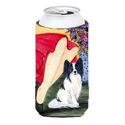 Lady With Her Papillon Tall Boy bottle sleeve Hugger 22 To 24 oz.