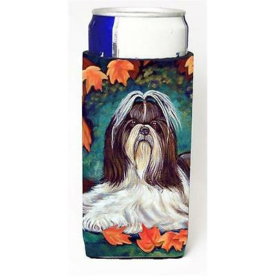 Autumn Leaves Shih Tzu Michelob Ultra bottle sleeves For Slim Cans 12 oz.