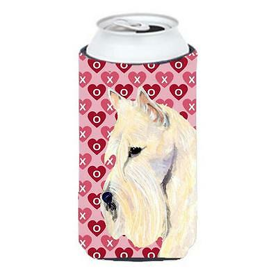 Scottish Terrier Hearts Love Valentines Day Portrait Tall Boy bottle sleeve H...