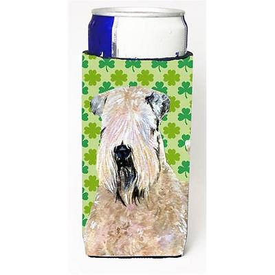 Wheaten Terrier Soft Coated St. Patricks Day Shamrock Michelob Ultra bottle s...