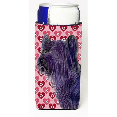 Skye Terrier Hearts Love And Valentines Day Portrait Michelob Ultra bottle sl...