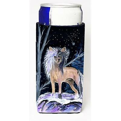 Starry Night Chinese Crested Michelob Ultra bottle sleeves For Slim Cans