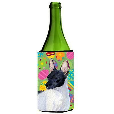 Carolines Treasures Rat Terrier Easter Eggtravaganza Wine bottle sleeve Hugger