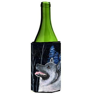 Carolines Treasures Starry Night Norwegian Elkhound Wine bottle sleeve Hugger