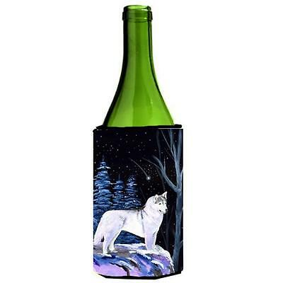 Carolines Treasures Starry Night Siberian Husky Wine bottle sleeve Hugger