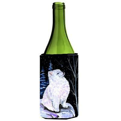 Carolines Treasures Starry Night American Eskimo Wine bottle sleeve Hugger