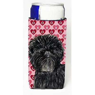 Affenpinscher Hearts Love And Valentines Day Portrait Michelob Ultra bottle s...