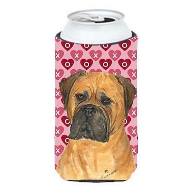 Bullmastiff Hearts Love And Valentines Day Portrait Tall Boy bottle sleeve Hu...