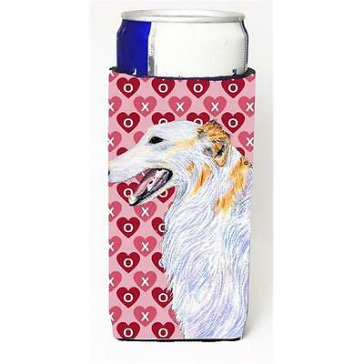 Borzoi Hearts Love And Valentines Day Portrait Michelob Ultra bottle sleeves ...
