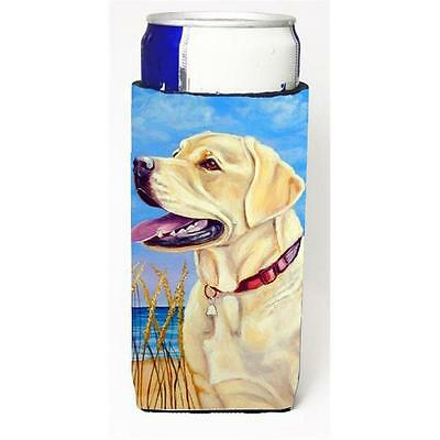 Yellow Labrador At The Beach Michelob Ultra bottle sleeves For Slim Cans 12 oz.