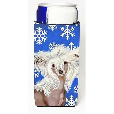 Chinese Crested Winter Snowflakes Holiday Michelob Ultra bottle sleeves For S...