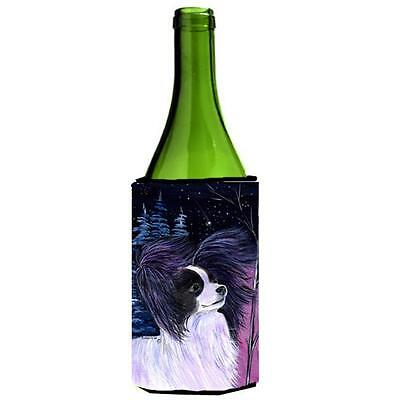 Carolines Treasures Starry Night Papillon Wine bottle sleeve Hugger 24 oz.