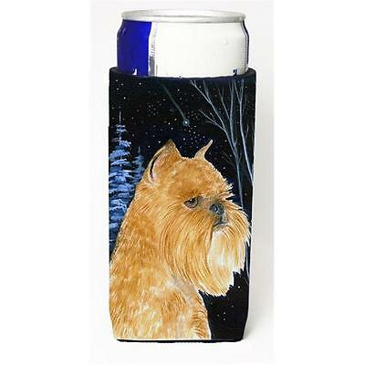 Starry Night Brussels Griffon Michelob Ultra bottle sleeves For Slim Cans 12 oz.