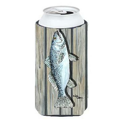 Carolines Treasures 8496TBC Fish Trout Tall Boy bottle sleeve Hugger