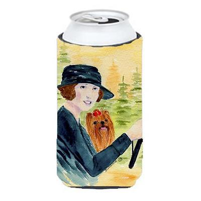 Lady Driving With Her Yorkie Tall Boy bottle sleeve Hugger 22 To 24 oz. • AUD 47.47