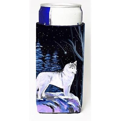 Starry Night Siberian Husky Michelob Ultra bottle sleeves For Slim Cans