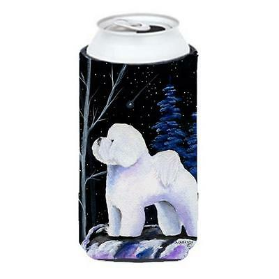 Carolines Treasures Starry Night Bichon Frise Tall Boy bottle sleeve Hugger