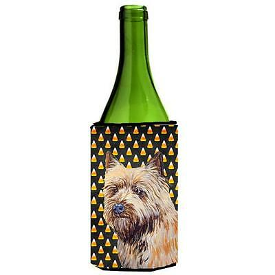 Cairn Terrier Candy Corn Halloween Portrait Wine bottle sleeve Hugger 24 oz.