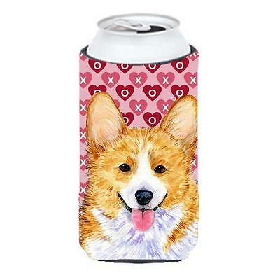 Corgi Hearts Love And Valentines Day Portrait Tall Boy bottle sleeve Hugger 2...
