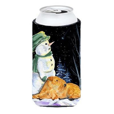 Snowman With Lakeland Terrier Tall Boy bottle sleeve Hugger 22 To 24 oz.