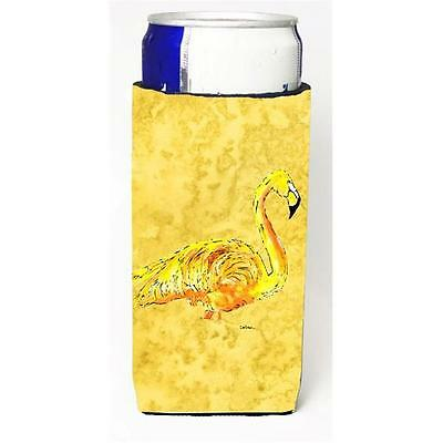 Flamingo On Yellow Michelob Ultra bottle sleeves For Slim Cans 12 oz.