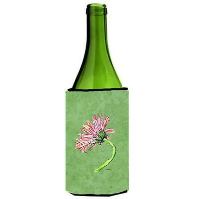 Carolines Treasures Gerber Daisy Pink Wine bottle sleeve Hugger 24 oz.